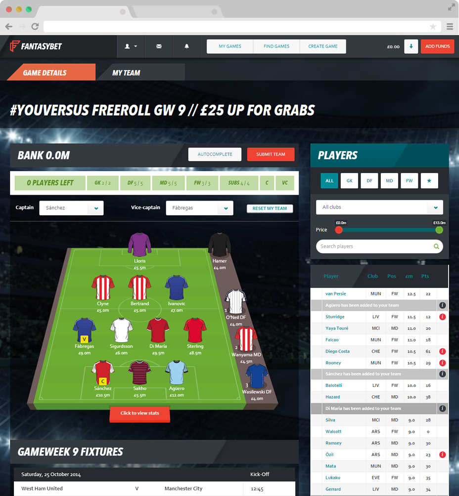 FantasyBet.com using AngularJS and WordPress